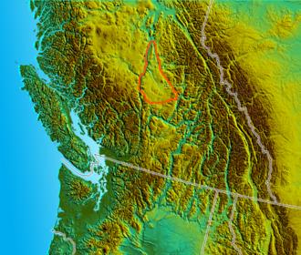 Cariboo - Location of the Cariboo Plateau proper