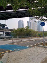 Southwest Dedicated Bicycle Highway, bicycle crossing at Jalan Tun Sambathan.jpg