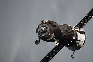 Soyuz TMA-09M - Soyuz TMA-09M departing from the ISS, 10 November 2013