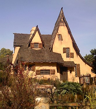 Storybook house - Harry Oliver's Spadena House (1921), also known as the Witch's House, Beverly Hills, California.