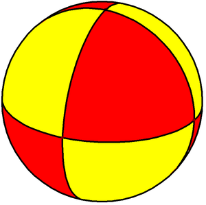 Triangle group - Image: Spherical square bipyramid 2