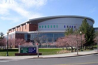Spokane Veterans Memorial Arena - Image: Spokane Arena SE Corner