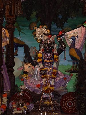 Madhavendra Puri - The deity rediscovered by Madhavendra Puri and worshiped by Vallabhacharya at Govardhan hill