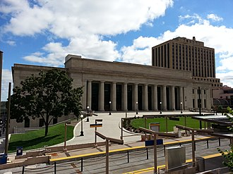 Downtown Saint Paul - A view of the Union Depot station