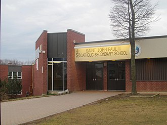 Morningside, Toronto - St. John Paul II Catholic Secondary School is a public secondary school located in Morningside.
