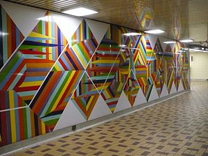 St Clair West Station art wall.JPG