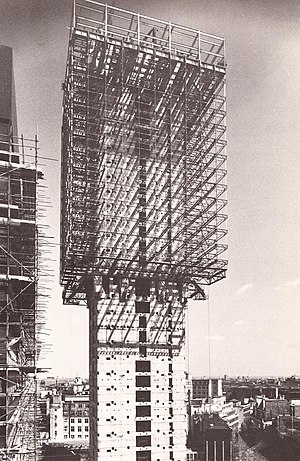 GMW Architects - Commercial Union Tower (now St Helen's) under construction, 1968