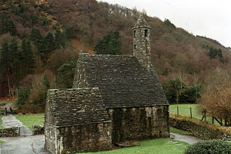 Kevin of Glendalough - The chapel of Saint Kevin at Glendalough