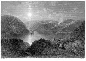 St Mary's Loch - 1845 engraving by William Miller after P. Paton