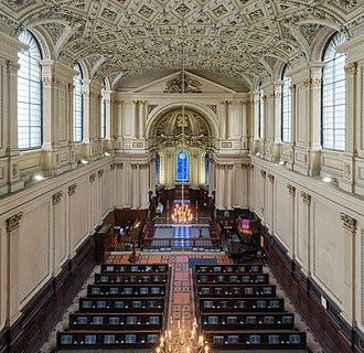St Mary le Strand - St Mary le Strand Interior