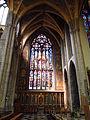 St Paul Liege Stainedglass Transept.JPG