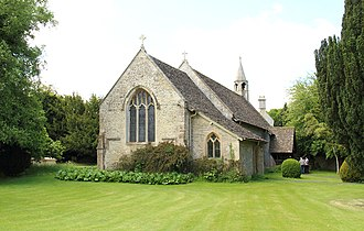 Quenington - St Swithin's Church is, as with the gatehouse and dovecote above, medieval and Grade I listed.