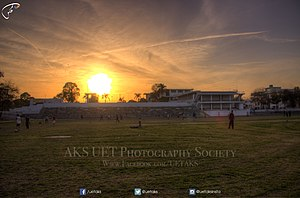 University of Engineering and Technology, Lahore - UET Stadium at evening