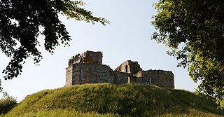 Stafford Castle castle in Staffordshire, England