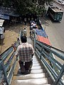 Stairs of an over bridge of Dhaka,2014.jpg