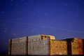 Star Trail and Airplane Flying over Qasr Kharana - Jordan قصر خرّانة.jpg