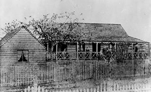 John Gerard Anderson - Unidentified residence in Bowen Hills, Brisbane, ca. 1875, described as residence of the first inspector of Queensland schools: John Gerard Anderson.