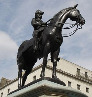 George White (British Army officer) - Statue of White in Portland Place, London