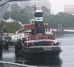 Queensland Maritime Museum - Image: Steamtugforceful