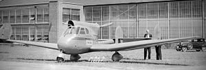 Stearman-Hammond Y-1 - Image: Stearman Hammond Y 1 at Langley May 1936 NACA 12107