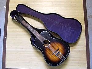 Stella (guitar) - Stella guitar in case