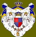 """Stemma antico dell'Ordine di San Giorgio d'Antiochia di Costantino detto """"delle Crociate"""", riportante le armi di Boemondo VI Guiscard (Viscardi), principe d'Antiochia.jpg"""