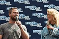 Stephen Amell and Emily Bett Rickards HVFFLondon2017Amell-ALS-22 (35273091606).jpg