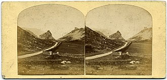 William Eastman Palmer & Sons - Stereoview of the Valley of the Rocks in Devon, by W.E. Palmer 1860s