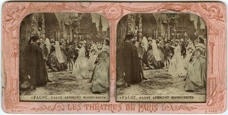 Stereokort, Faust 2, Faust apercoit Marguerite - SMV - S26a.tif