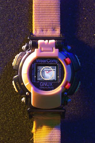 "Smartwatch - The first Linux Smartwatch was presented at IEEE ISSCC2000 on 7 February 2000, where presenter Steve Mann was named ""the father of wearable computing"". This watch also appeared on the cover and was the feature article of LJ Issue 75."