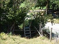 Stile near Bryn-glas Station - geograph.org.uk - 214666.jpg