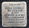 Stolperstein Brandenburgische Str 46 (Wilmd) Anna Reiwald.jpg
