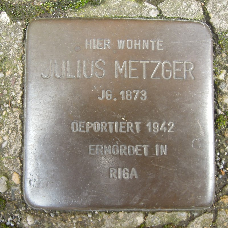 Stolperstein Dorsten Wiesenstraße 14-16 Julius Metzger.jpg