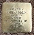 Stolperstein Eitelstr 80 (Rumbg) Bertha Reich.jpg