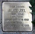 Stolperstein Falterweg 11 (Weste) Alice Joel.jpg