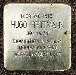 Photo of Hugo Bettmann brass plaque