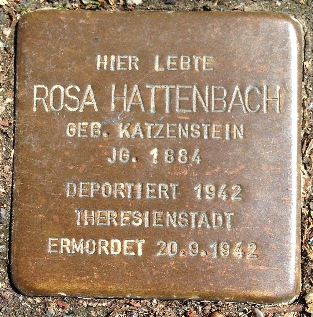 Stolperstein Herborn Nassaustraße 3 Rosa Hattenbach