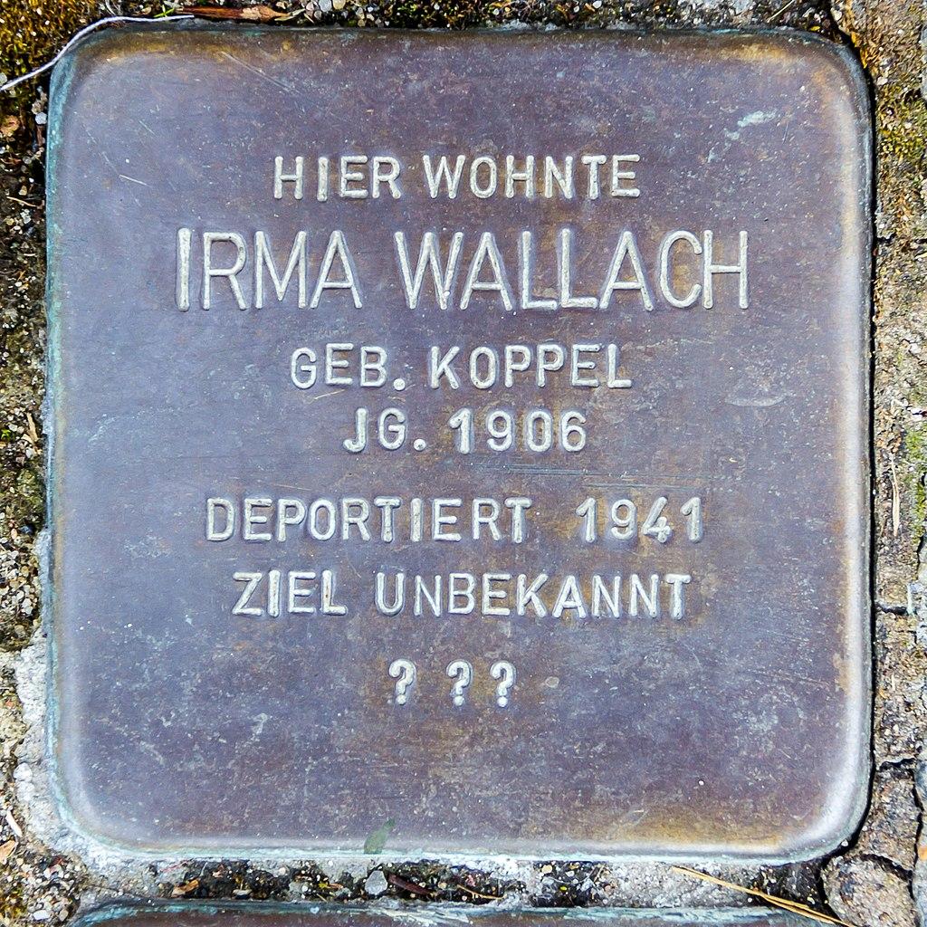 Stolperstein Irma Wallach