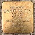 Stolperstein Kleve Pannofenstraße 5 Emanuel Maurits Schaap.jpg