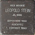 Stolperstein Talstraße 14, Bleicherode (Leopold Stein).jpg
