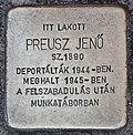 Stolperstein für Jenö Preusz (Miskolc).jpg