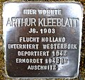 Stolpersteine Dortmund Lindenhorster Straße 237 Arthur Kleeblatt.jpg
