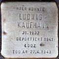 Stolpersteine Köln, Ludwig Kaufmann (Kartäuserwall 7).jpg