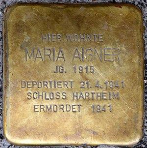 Stolpersteine Salzburg, Maria Aigner (Schallmooser Hauptstraße 17).jpg