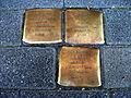 Stolpersteins Albert Kahn, Eva Kahn, Thea Kahn Bonner Straße 10 Bonn.JPG
