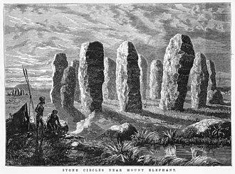 James Waltham Curtis - Image: Stone circles near Mount Elephant 1877
