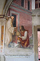 Storie di s. benedetto, 17 sodoma - Come Benedetto converte in serpe un fiasco di vino nascostogli da un garzone 02.JPG