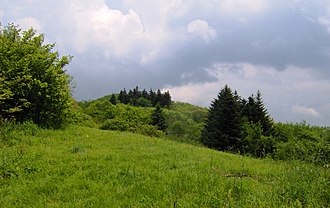 Unicoi Mountains - Bob Stratton Bald, where the family of Robert Stratton lived in the mid-1800s