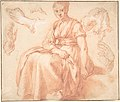 Study of a Seated Woman and Five Studies of Hands; Verso- Landscape with a Road and a Tree to the Right MET DP801117.jpg