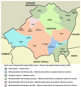 mapa subotice sa okolinom Град Суботица — Википедија, слободна енциклопедија mapa subotice sa okolinom